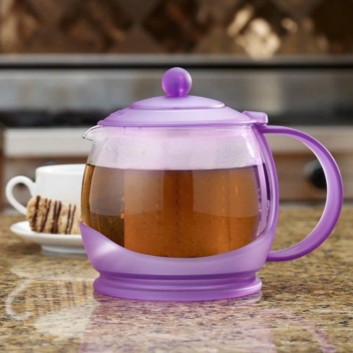The glass teapot in lavendar