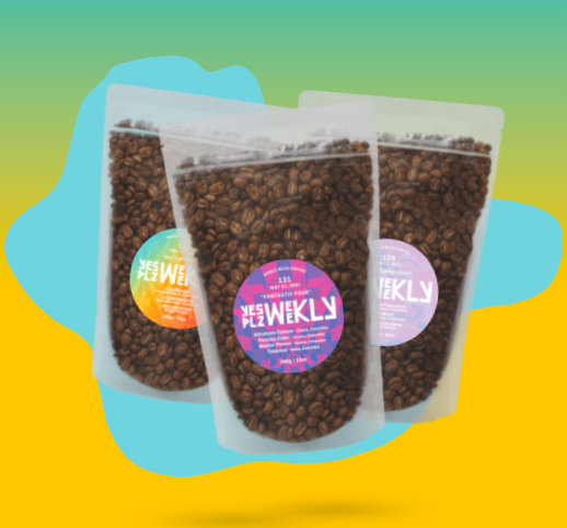 three bags of coffee beans