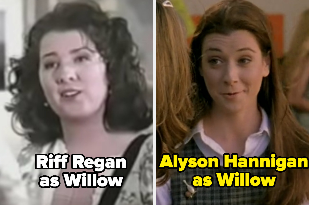 Riff Regan and Alyson Hannigan, both playing Willow