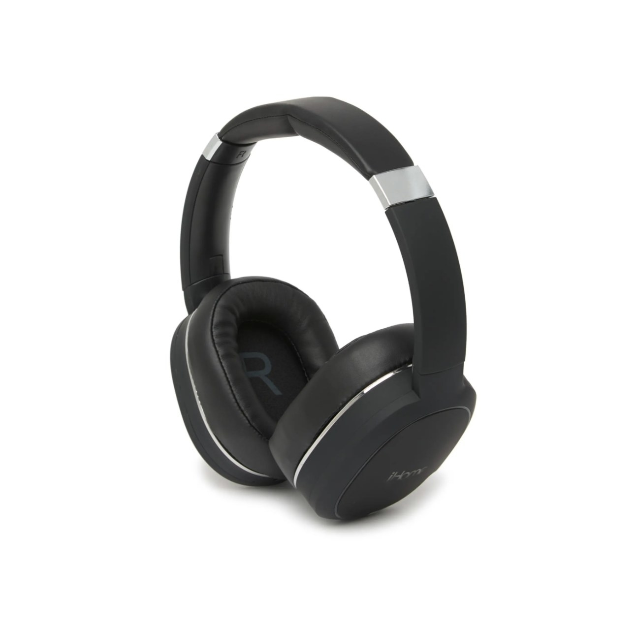 The bluetooth over the ear headphones in black
