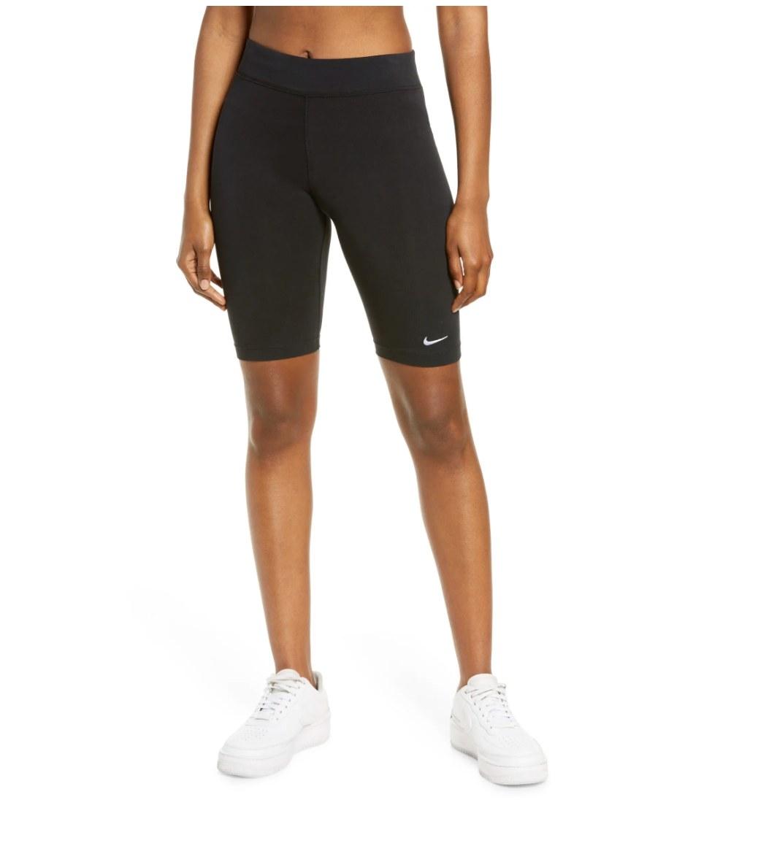 The pair of Nike high rise bike shorts