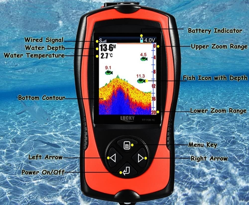 The fish finder and its specs