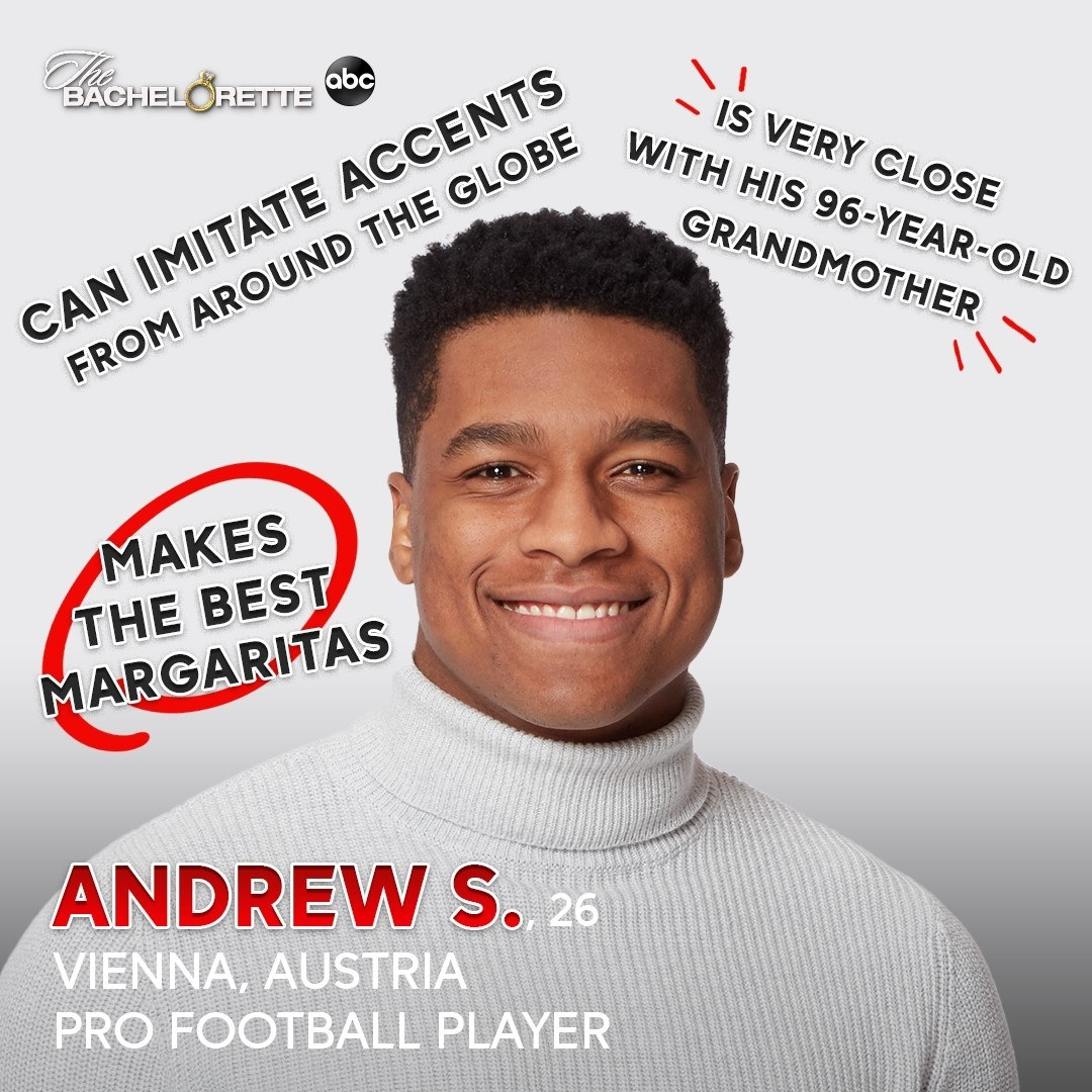 """A pro football players who makes the best margaritas and is proud of the fact he can """"imitate accents from around the globe"""""""