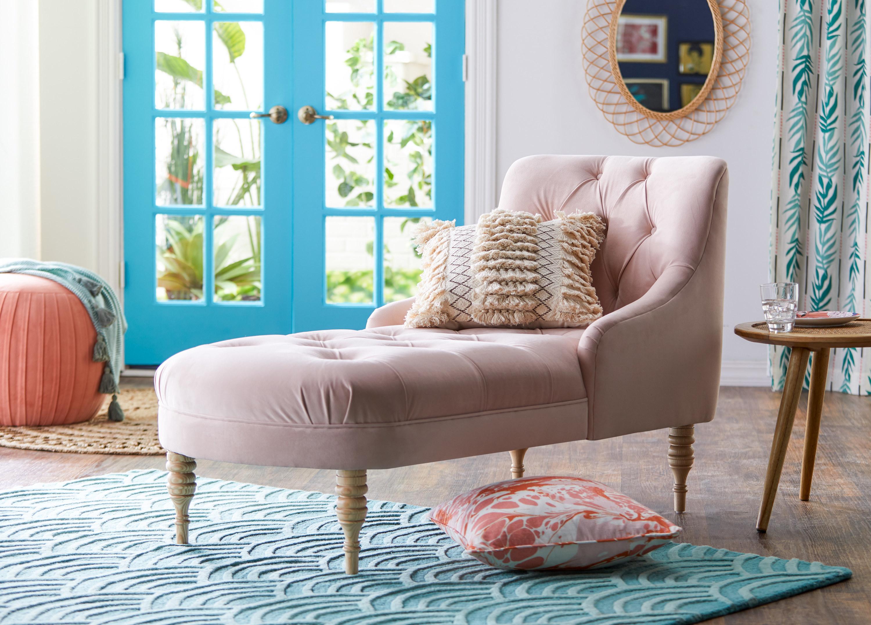 pastel pink lounge