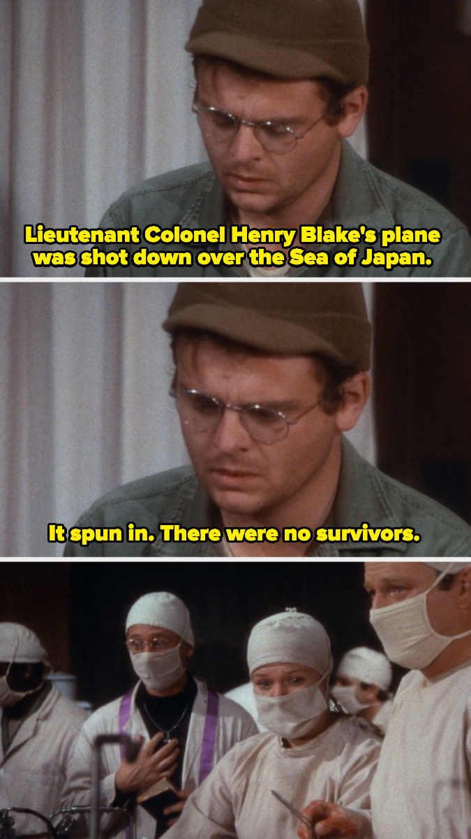 Hearing the news about the plane shot down over the Sea of Japan during a surgery