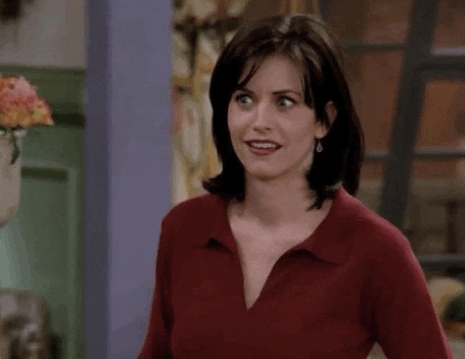 Frustrated Monica Geller