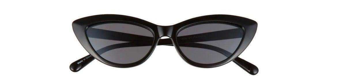 The pair of cat-eye sunglasses in black