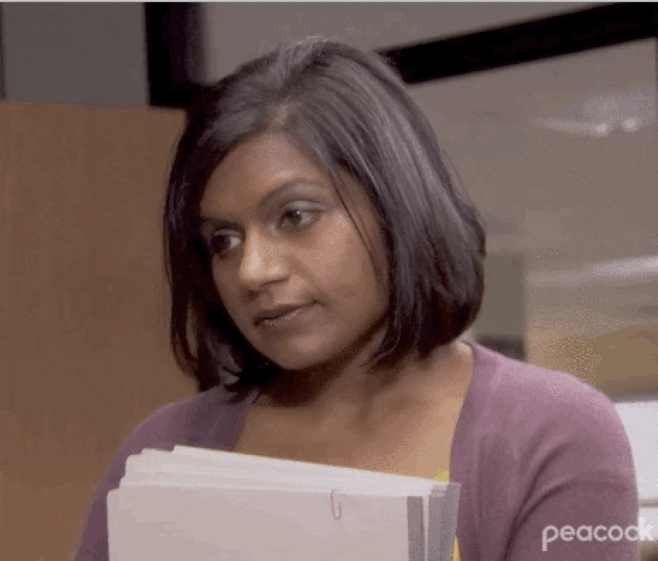 Exhausted Kelly Kapoor