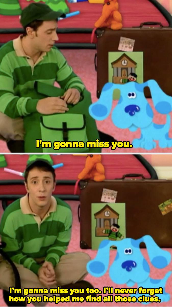 "Steve says ""I'm gonna miss you"""