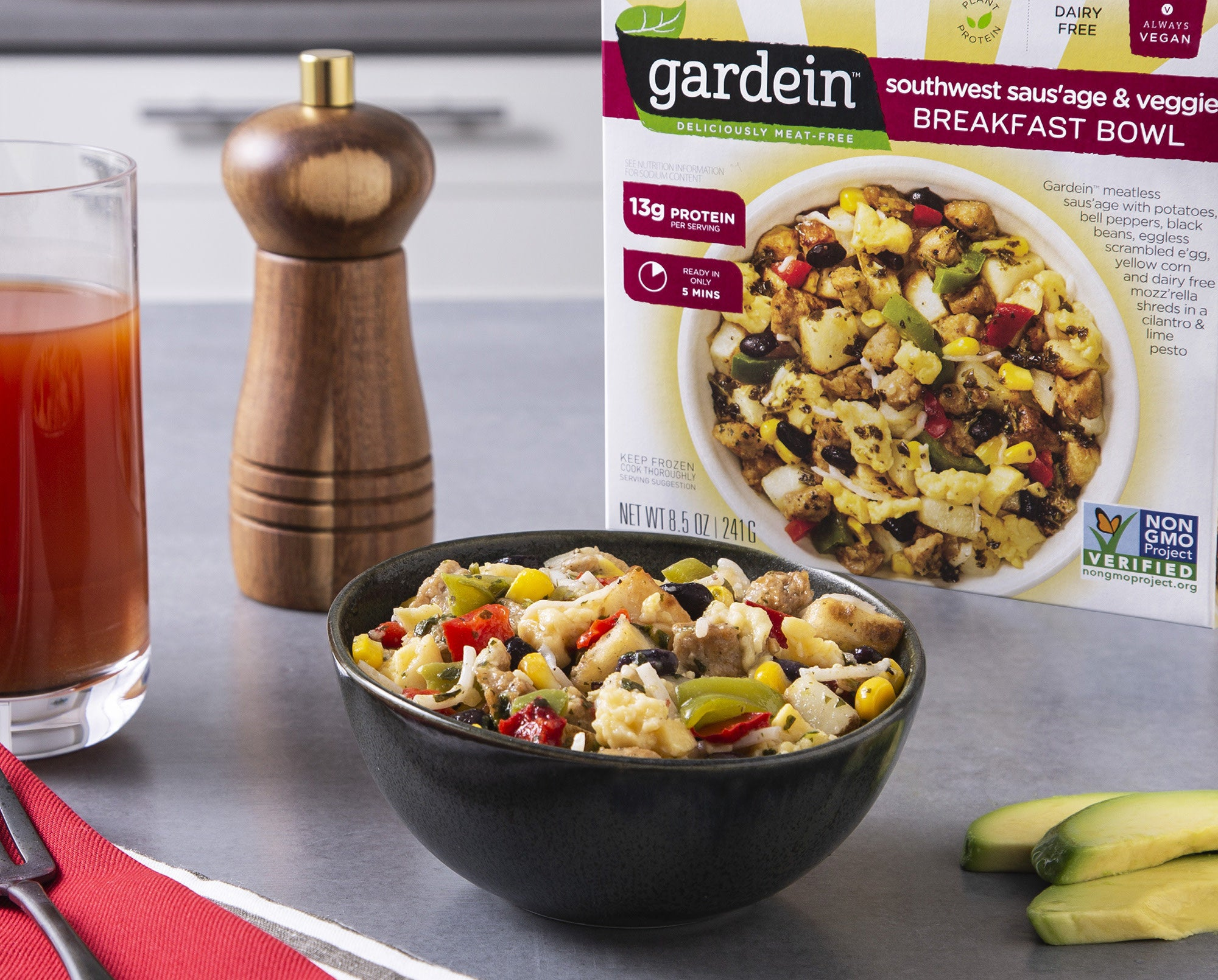 The vegan breakfast bowl southwest flavor