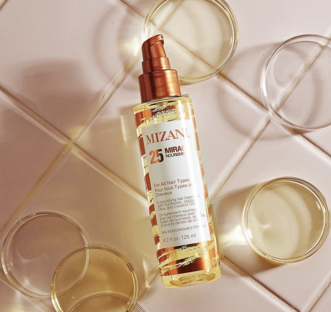 A bottle of hair oil