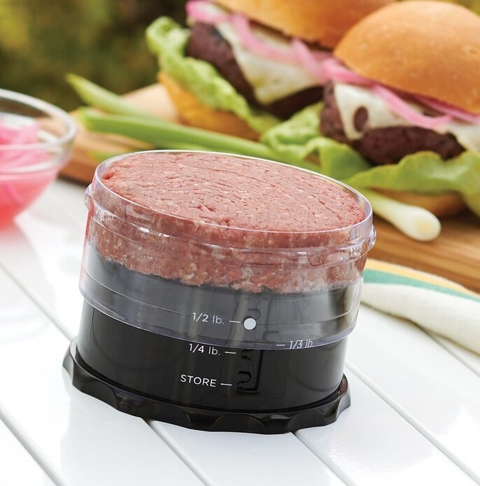 A burger in the press