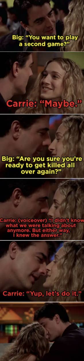 Carrie and Big getting back together