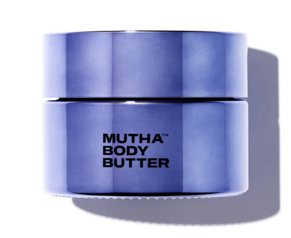 purple container of Mutha Body Butter