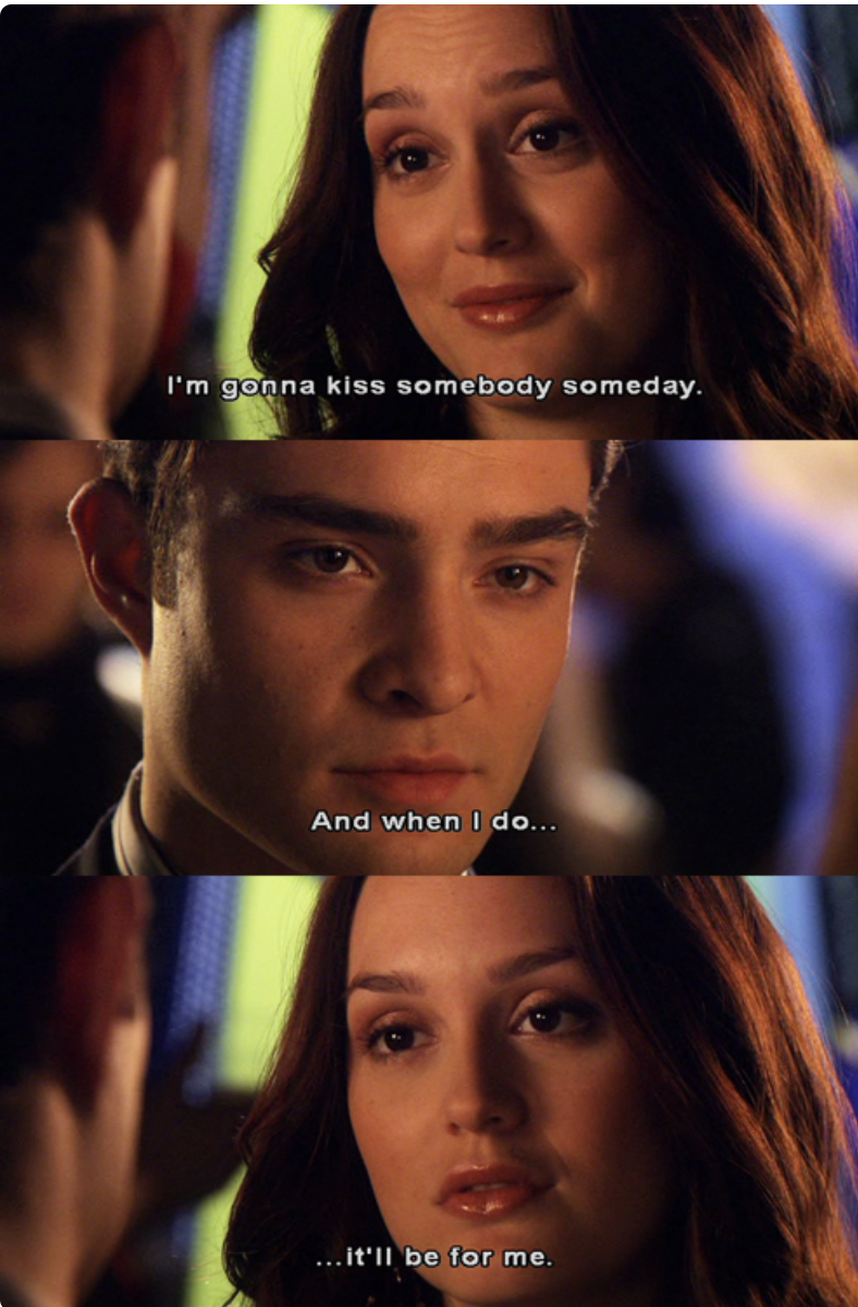 Blair telling Chuck she is going to kiss someone after their breakup