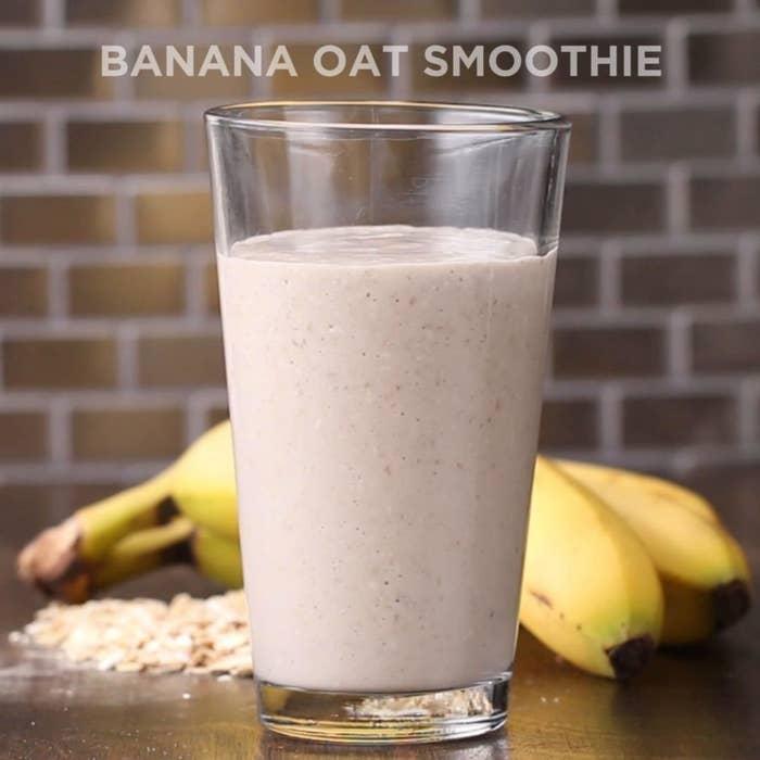 3-Ingredient Banana Oat Smoothie