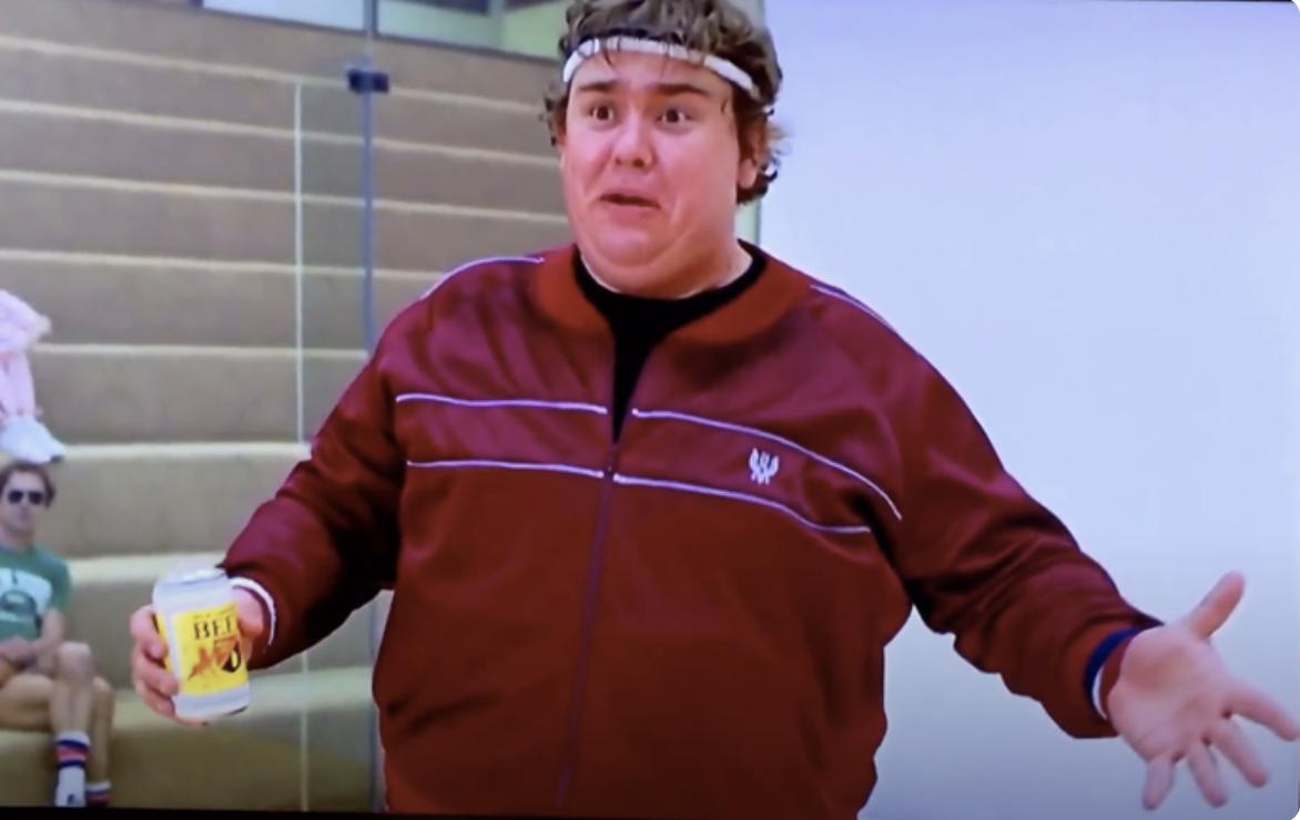 John Candy in splash's famous racquetball scene