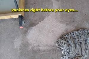 随着脱脂器越过它,剪影的审稿人的图像积极地去除地板上的油脂