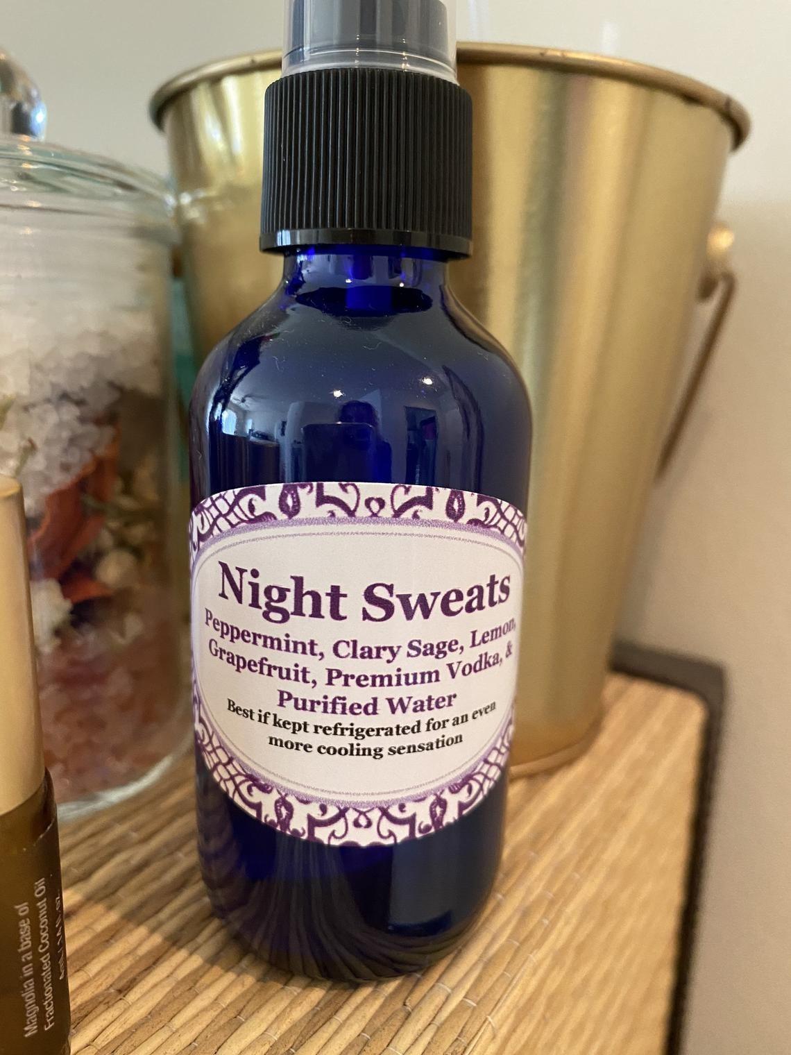 The bottle of Night Sweats