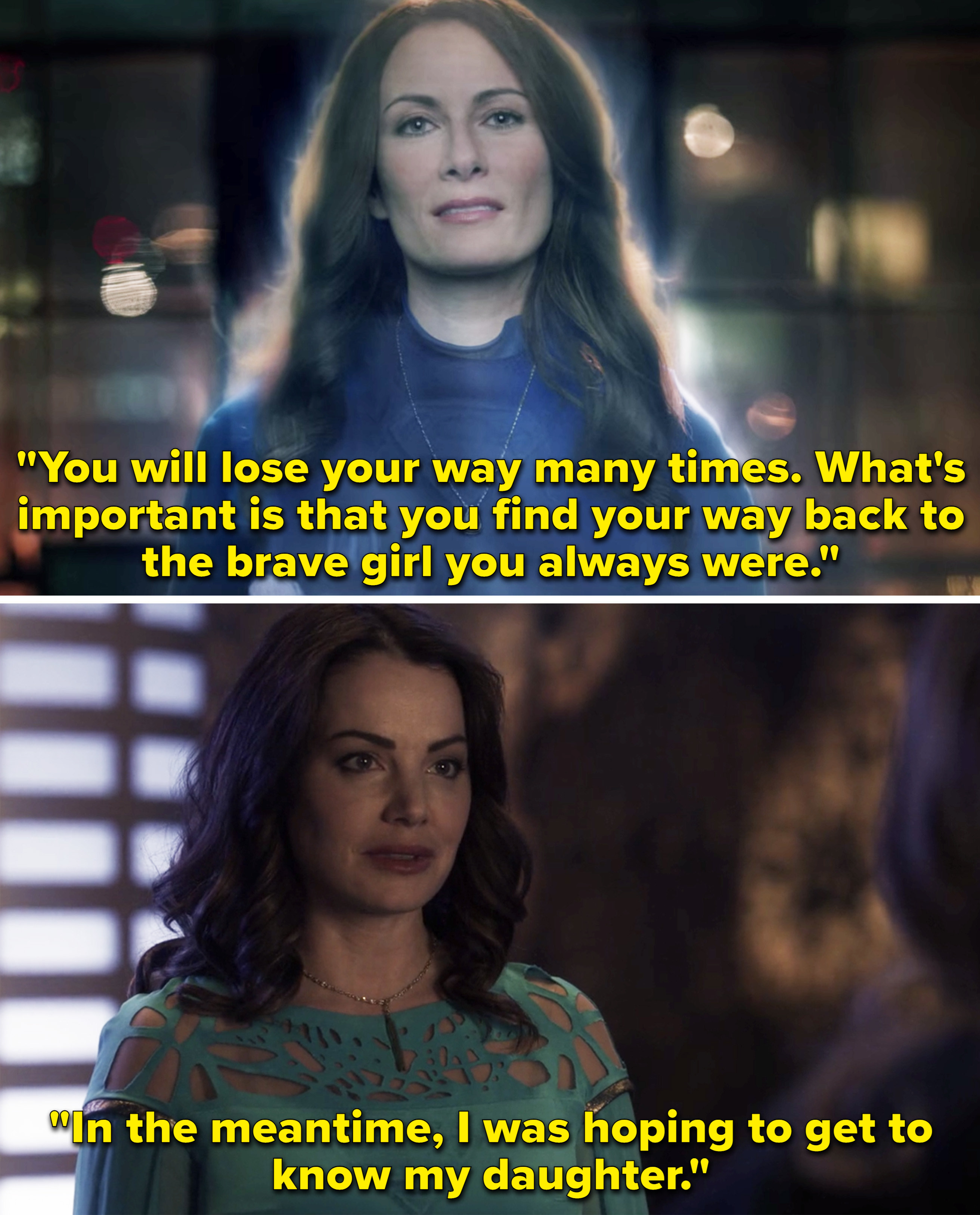 阿鲁拉说卡拉永远是她年轻时的勇敢女孩,然后阿鲁拉告诉卡拉她想了解她