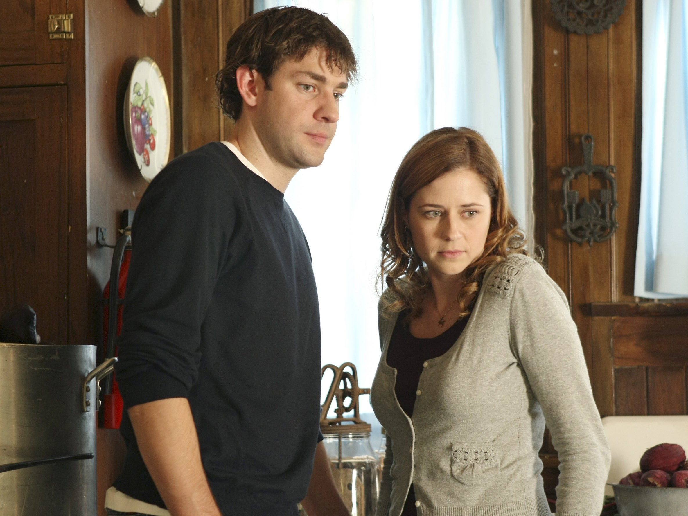 Jim and Pam look displeased