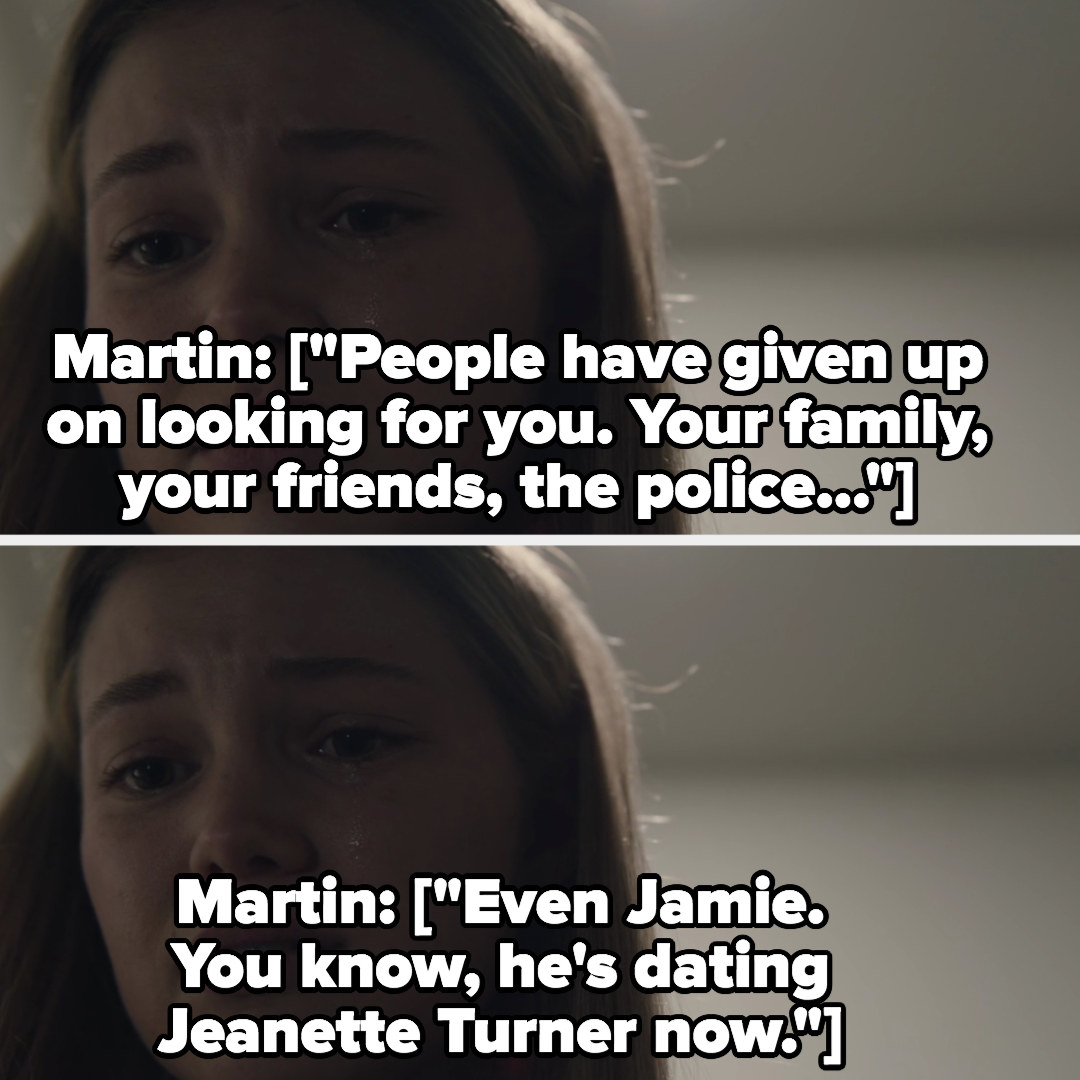 Martin tells Kate everyone has given up on looking for her and that Jamie is now dating Jeanette