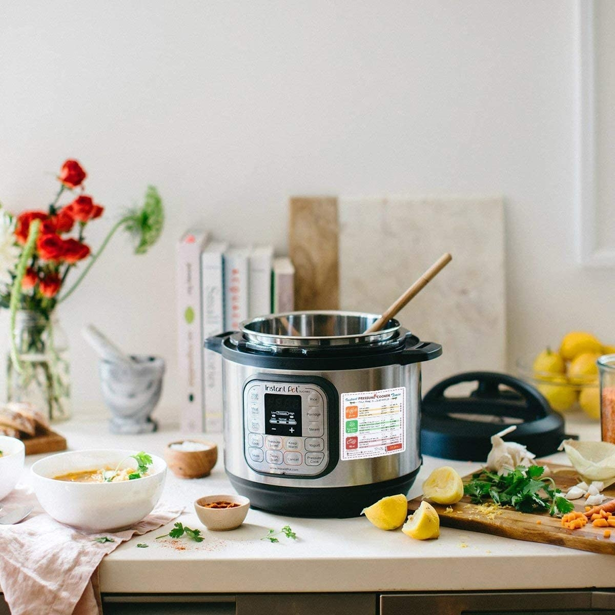 An Instant pot with a large magnet on the side
