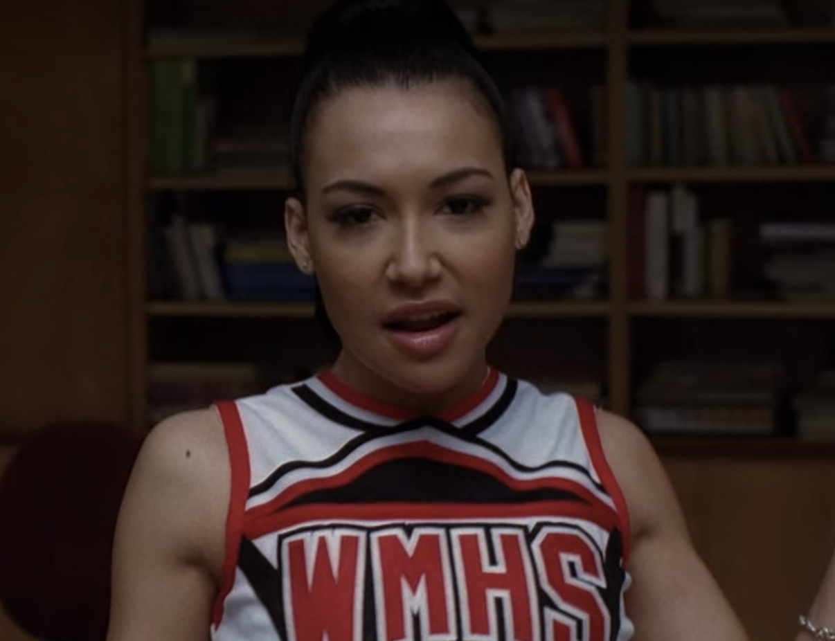 """Nina as Santana on """"Glee"""""""