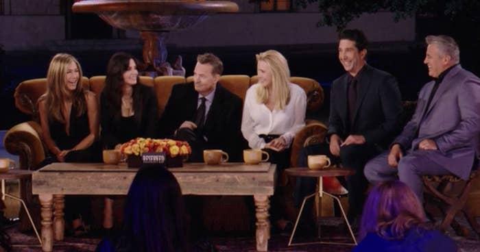 "Jennifer Aniston, Courteney Cox, Matthew Perry, Lisa Kudrow, David Schwimmer, and Matt LeBlanc reunited in ""Friends: The Reunion"""