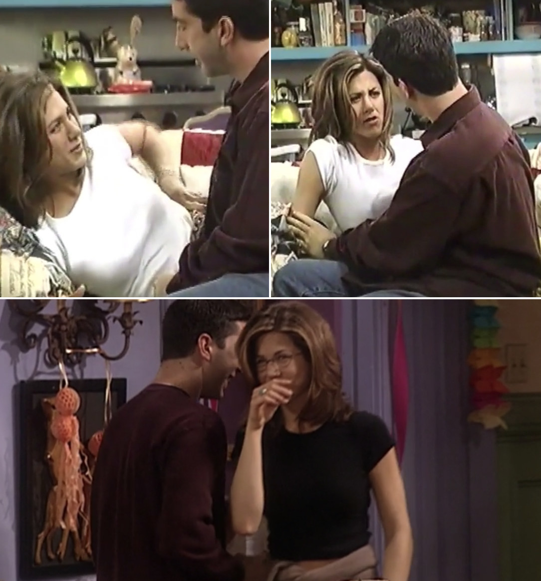 """David Schwimmer and Jennifer Aniston flirting with each other behind-the-scenes while filming """"Friends"""""""