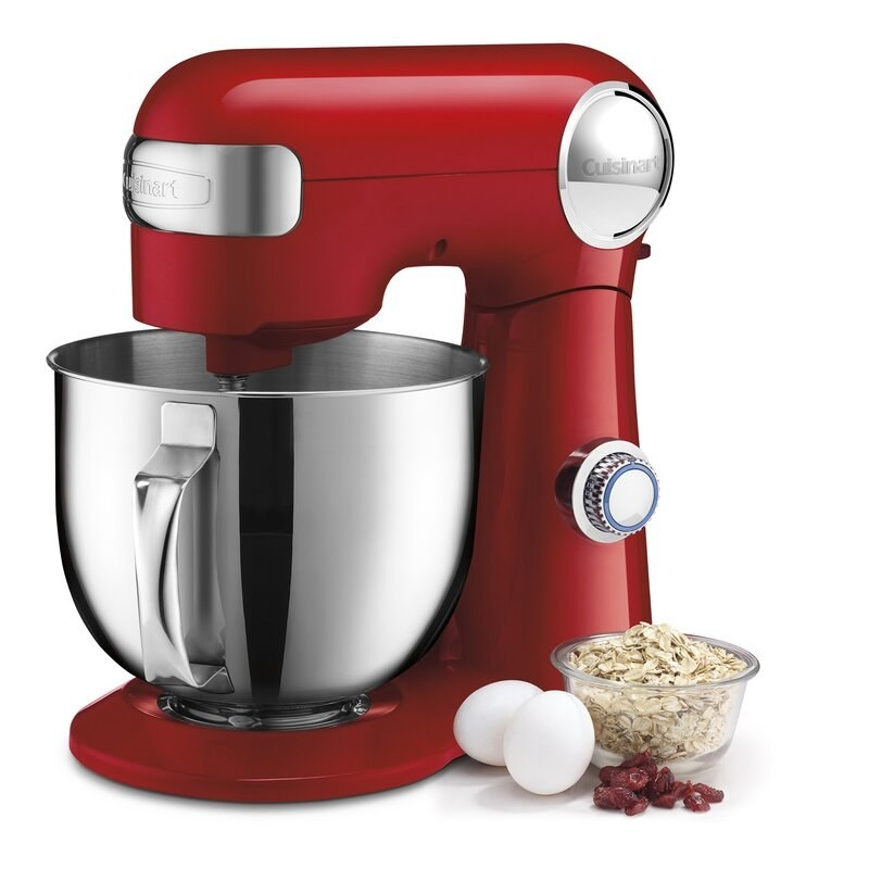 a red stand mixer