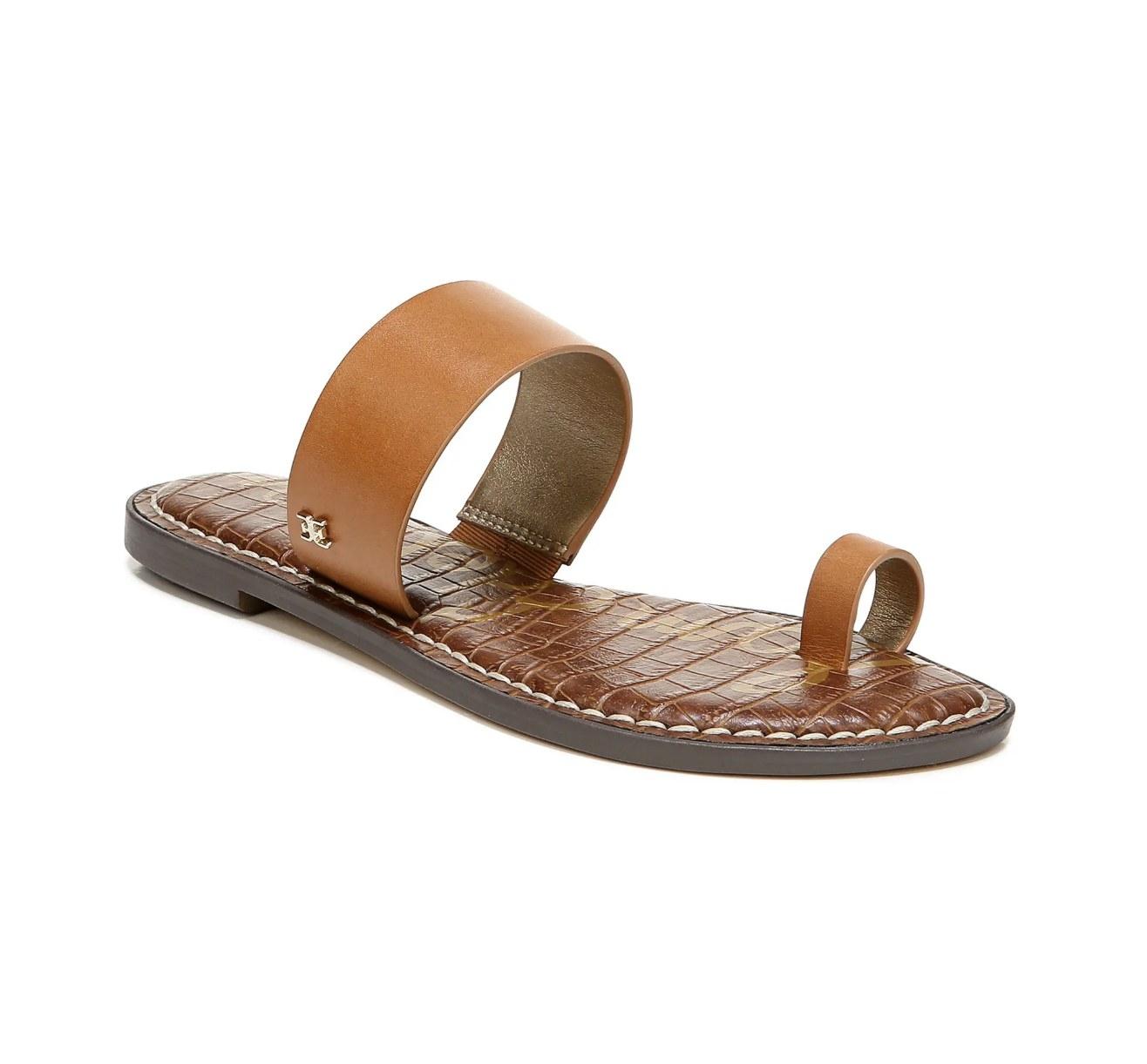 The Sam Edelman slide sandal in saddle leather