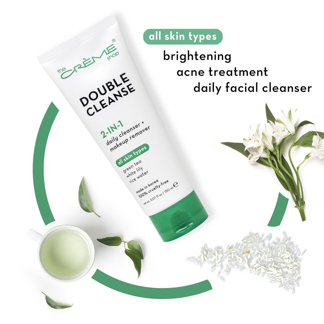 The tube of brightening cleanser
