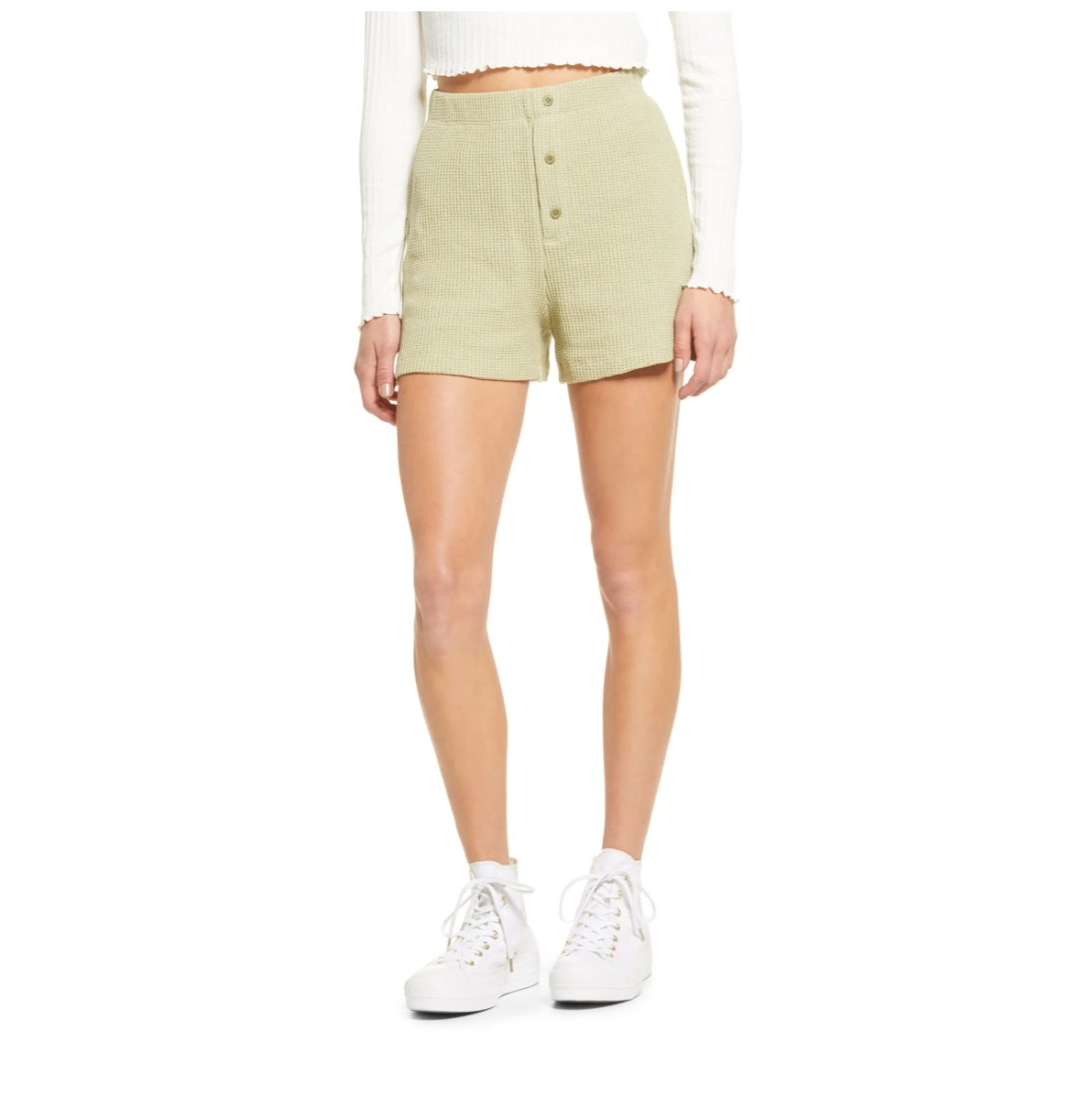 The Nordstrom waffle knit short in eucalyptus