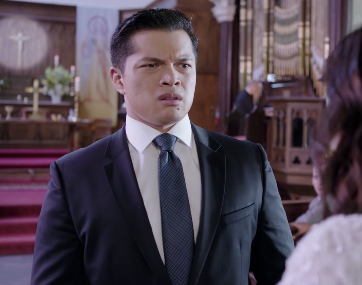 An upset and confused groom