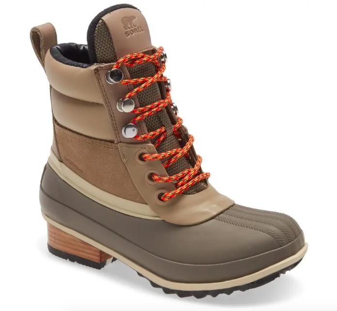 The Sorel Slimpack III waterproof hiker boot in khaki