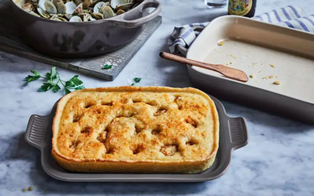 The Le Creuset casserole dish in oyster