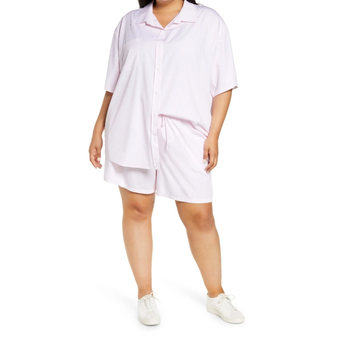 The plana button front shirt in pink