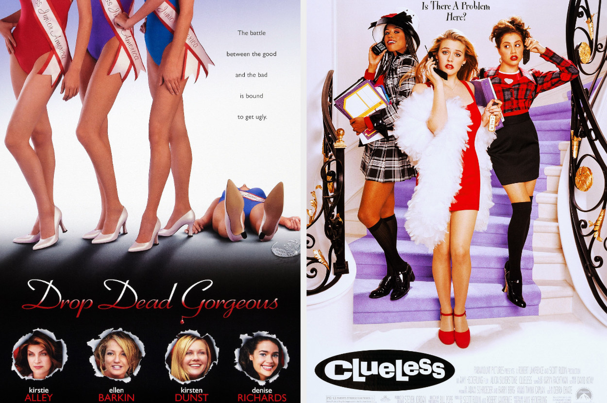 The posters for Drop Dead Gorgeous and Clueless