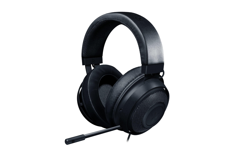 the black headphones
