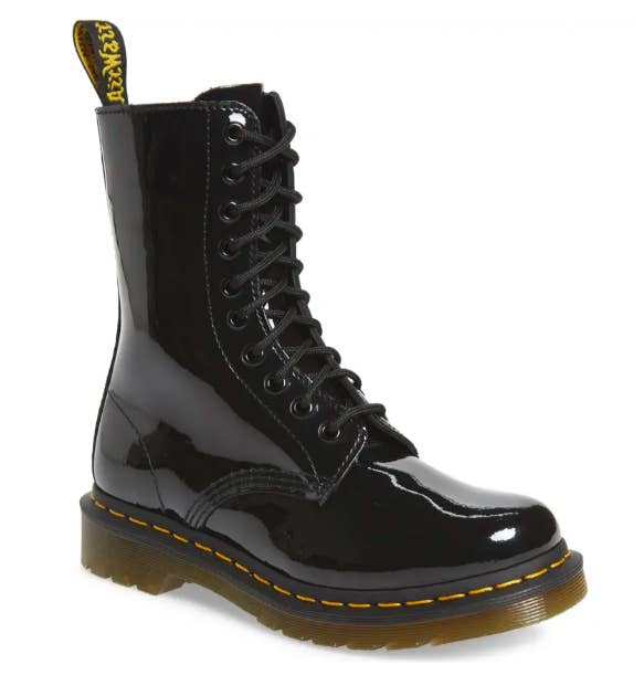 The Dr. Martens 1490 Lace-Up Boot in black patent