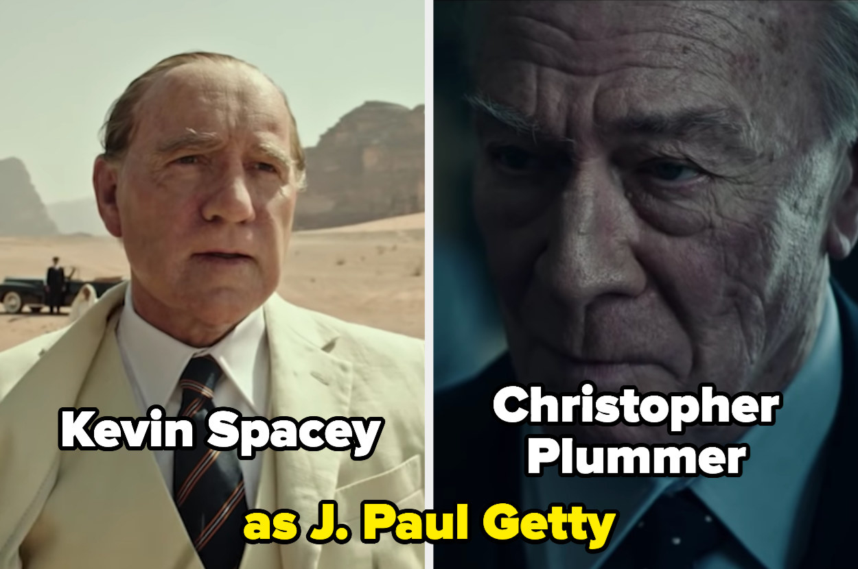 Kevin Spacey and Christopher Plummer side by side as J. Paul Getty
