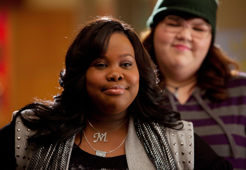 "Amber as Mercedes in ""Glee"""