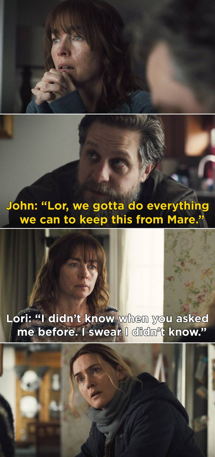 """Lori telling Mare, """"I didn't know when you asked me before. I swear I didn't know"""""""