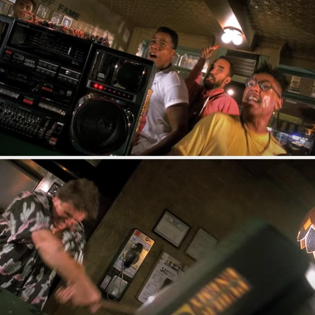 Sal smashing Radio Raheem's radio