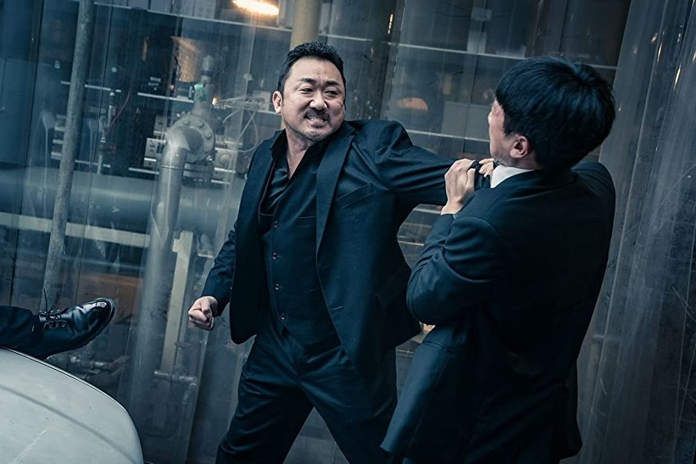 ma dong-seok in the gangster, the cop, the devil