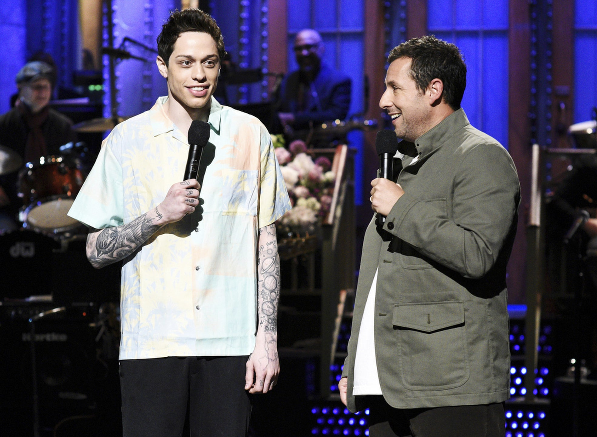 Adam chats with Pete on the Saturday Night Live stage