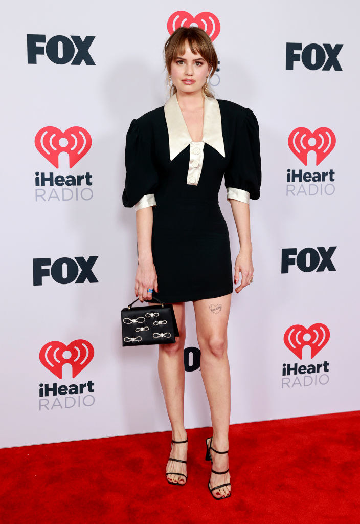Debby Ryan attends the 2021 iHeartRadio Music Awards
