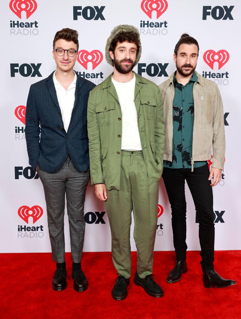 Ryan Met, Jack Met, and Adam Met of music group AJR attend the 2021 iHeartRadio Music Awards