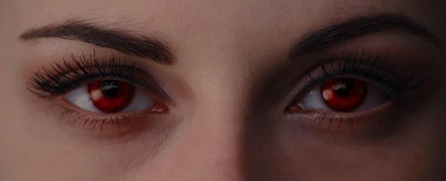 Bella with red newborn vampire eyes